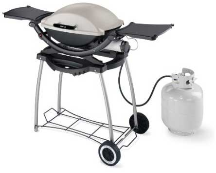 weber q200 grill with accessories this grill is combined with the grill cart and