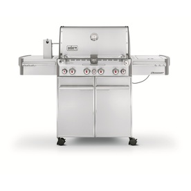 Weber Summit S-670 6-Burner (60,000-BTU) Gas Grill with Side and Rotisserie Burners and Integrated Smoker Box 7370001