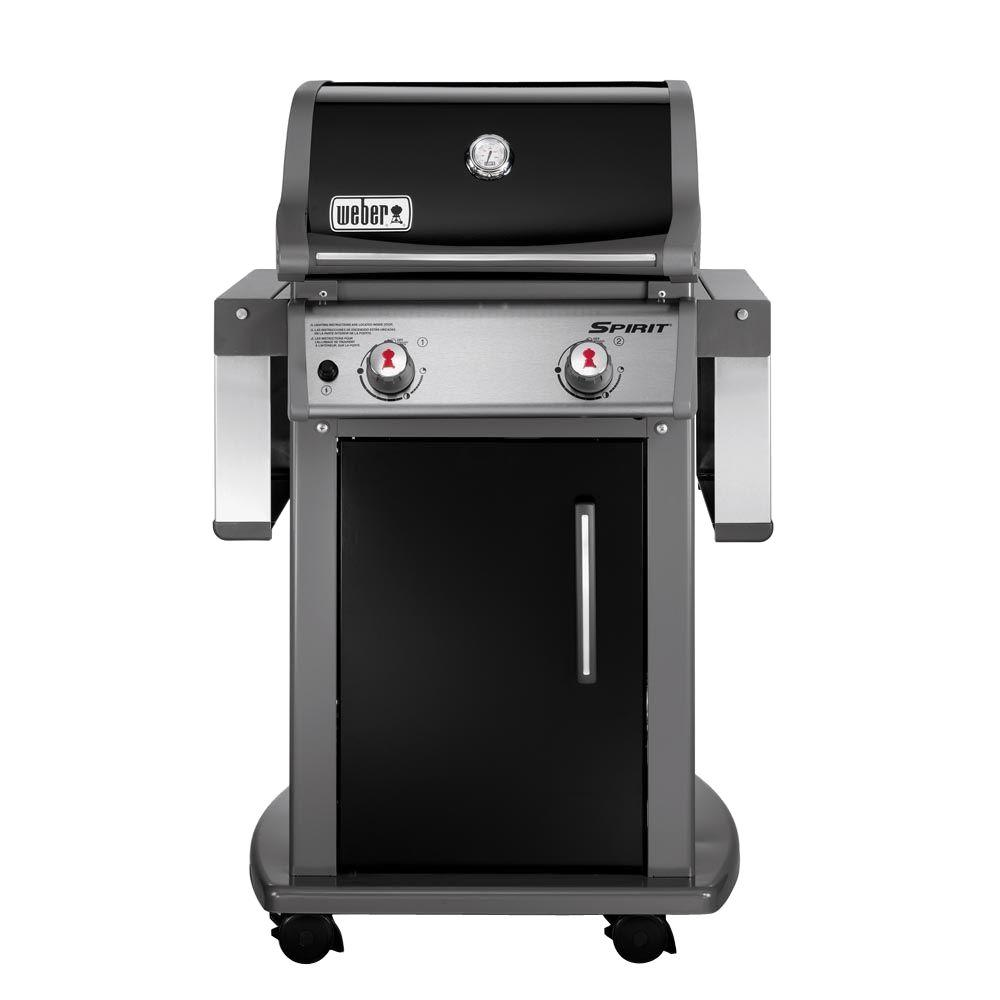 Weber Spirit E-210 2-Burner Propane Gas Grill in Black with Built-In Thermometer